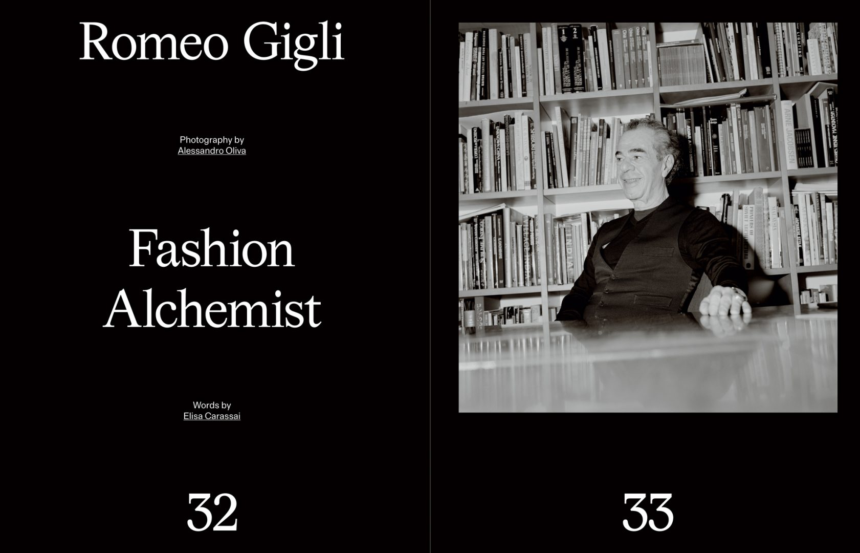 Sali e Tabacchi Journal, Romeo Gigli, Photographed by Alessandro Oliva