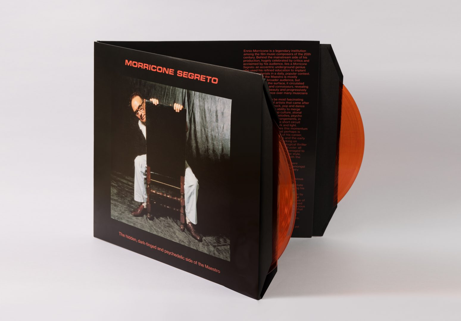 Morricone Segreto, Double LP, CD, Collectors Edition. Photography by Luciano Viti's Archive