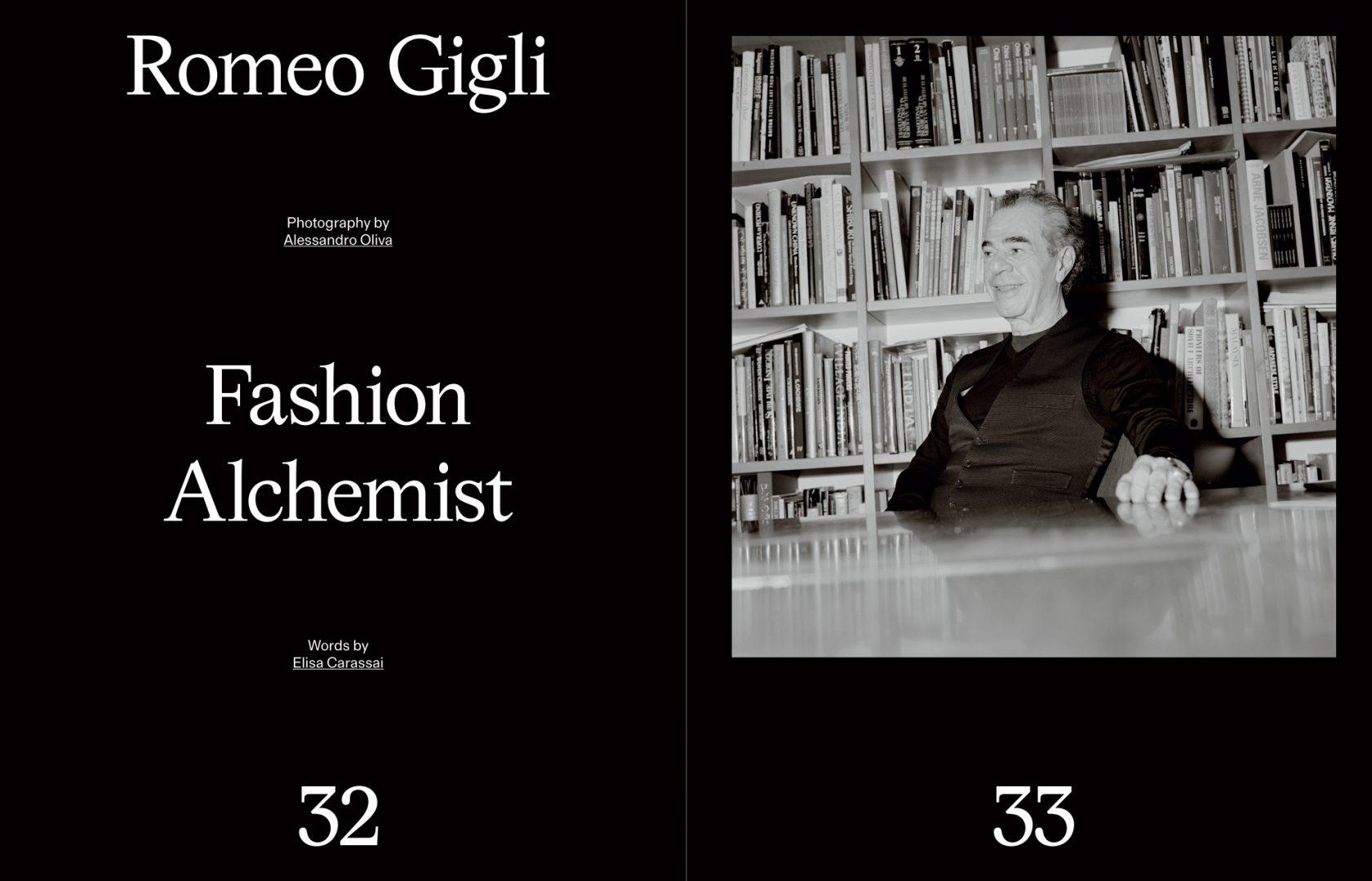 Sali e Tabacchi Journal, Romeo Gigli, Photographed by Alessandro Oliva