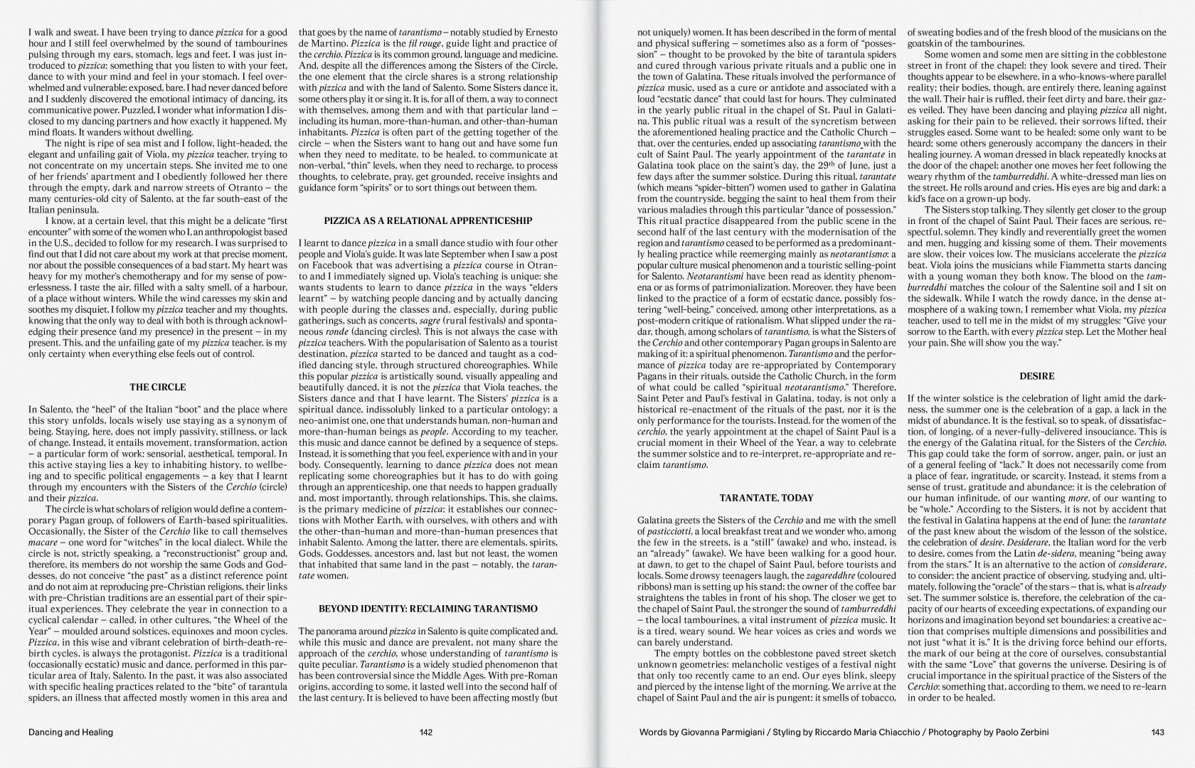 Sali e Tabacchi Journal N°01, Words by Giovanna Parmigiani
